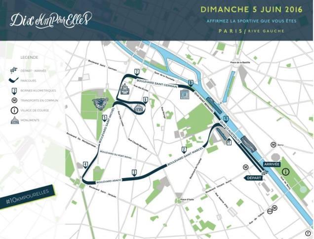 10 km pour elles PARCOURS the sporty family