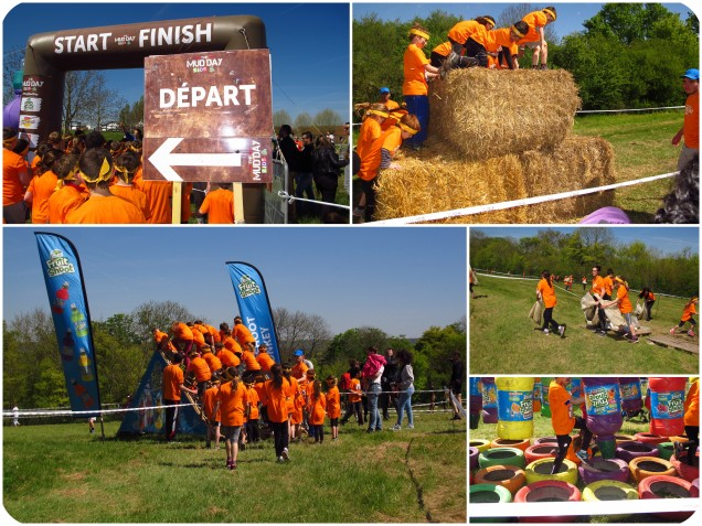 parcours obstacle the mud day kids fruitshoot the sporty family