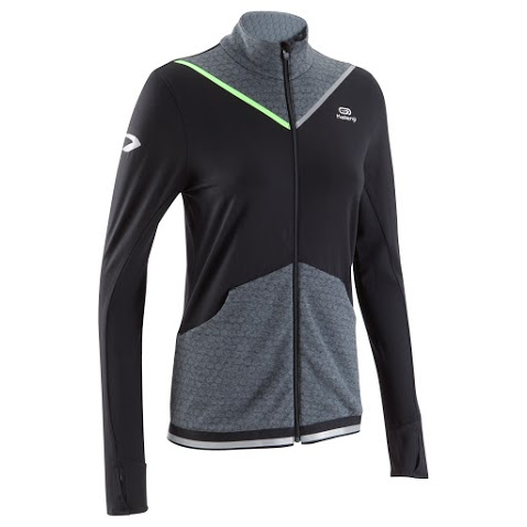kiprun warm jacket black