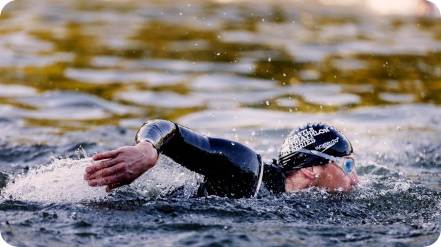 Triathlon de Chantilly - visuels d'ambiance natation the sporty family